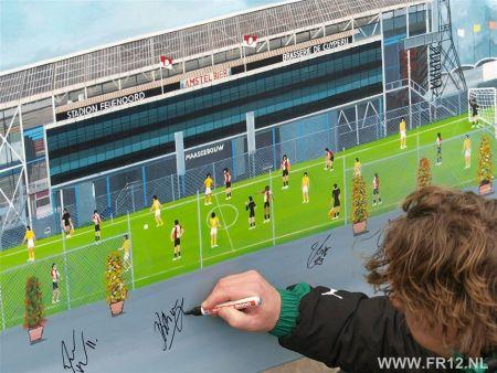 Mario Been signeert Feyenoord Stadion van Gyula Rajkovics